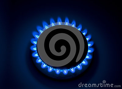 Burning natural gas