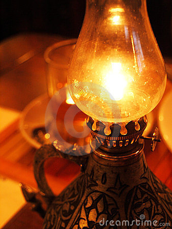 Free Burning Oil Lamp Stock Photo - 23374600