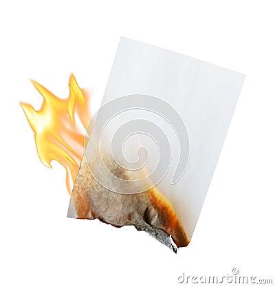 Free Burning Paper Stock Image - 17808121