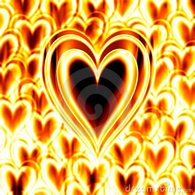 Burning passion heart fire