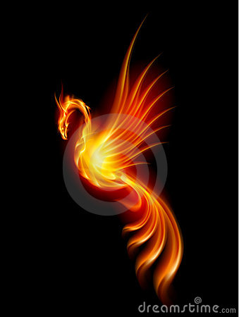 Free Burning Phoenix Stock Images - 21837354