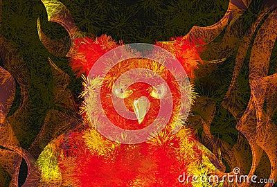 Burning phoenix bird
