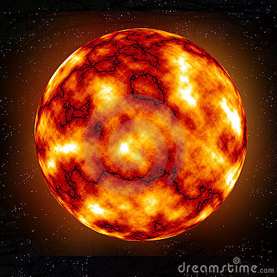 Free Burning Planet Royalty Free Stock Image - 2068366