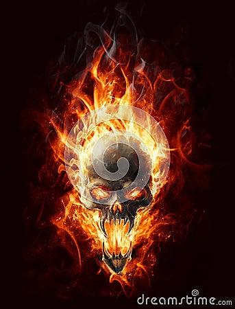 Free Burning Skull Stock Photo - 22284570