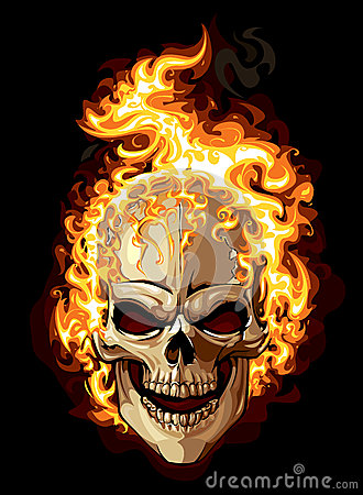 Free Burning Skull Stock Photo - 29294320