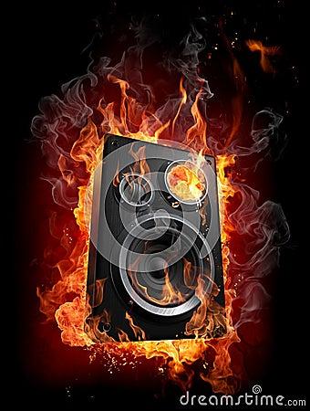 Free Burning Speaker Royalty Free Stock Photos - 9317208