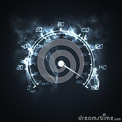 Free Burning Speedometer Stock Photography - 8540842