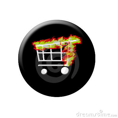 Burning web shop button