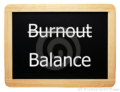 Burnout / Balance - Concept Sign