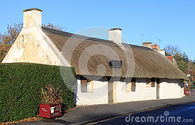 Burns Cottage birthplace of Robert Burns, Alloway Editorial Stock Photo