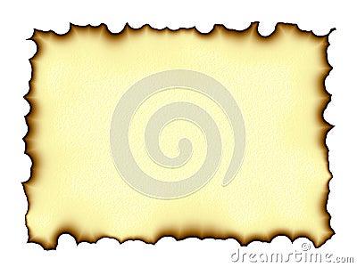 Burnt edges parchment