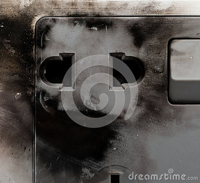 Free Burnt Out Electric Socket Royalty Free Stock Photos - 69472768