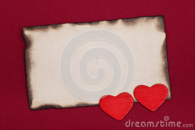 Burnt paper and hearts