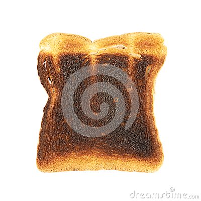 Free Burnt Toast Bread Isolated Stock Photography - 45286822