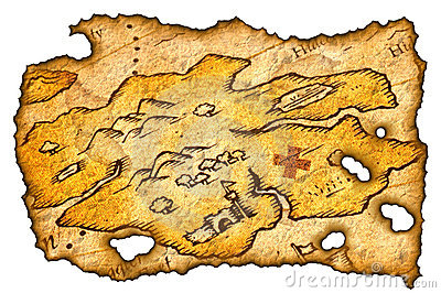 Burnt Treasure Map