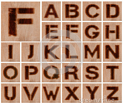 Burnt Wood Letters