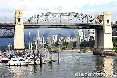 Burrard bridge Granville island, Vancouver BC.