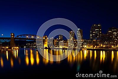 Burrard Street Bridge, Vancouver, BC  sunset