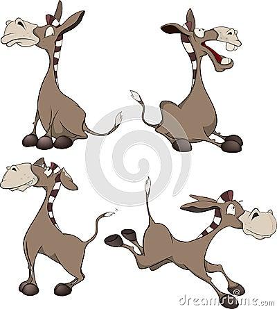 Free Burros. Cartoon Stock Photo - 31464470