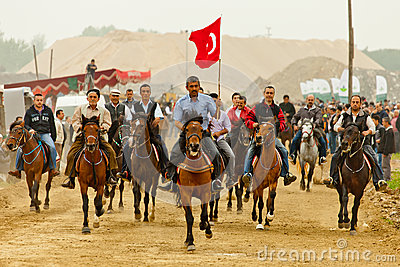 Bursa Rahvan Horses Racing Editorial Stock Image