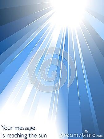 Burst of blue light