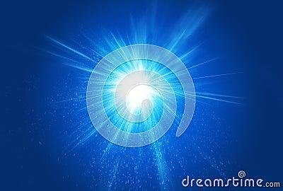 Burst Explosion Light Rays