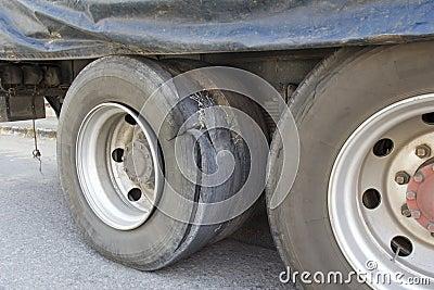 Burst Tire Truck Royalty Free Stock Image Image 34353076