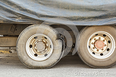 Burst tire truck