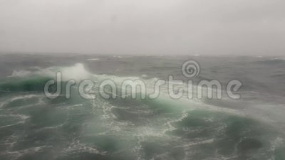Burza w morzu, ocean fala w oceanie indyjskim podczas burzy zbiory