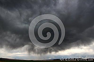 Burza w Wiejski Idaho