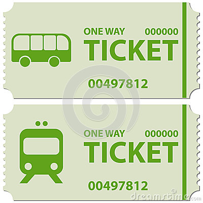 Free Bus And Train Tickets Stock Image - 44354581
