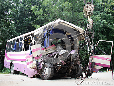 Bus crash Editorial Image
