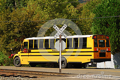 Uncontrolled Railroad Crossing Bus At Crossing Royalt...