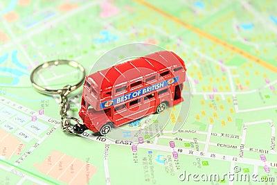 Bus des doppelten Deckers