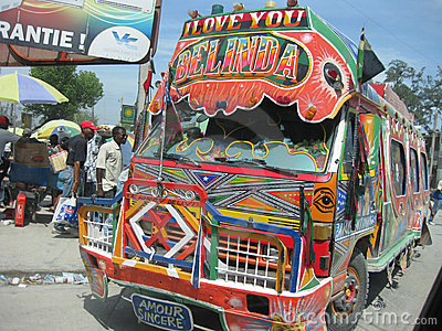 The bus of hope in haiti Editorial Stock Image