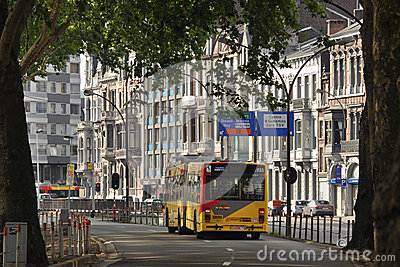 Bus in Liege Editorial Stock Image