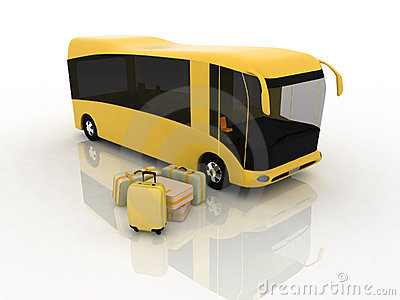 Bus and luggage