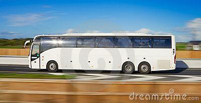 Bus in motion