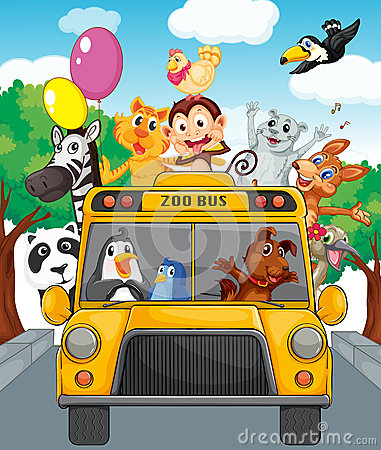Free Bus Of Animals Royalty Free Stock Photo - 25385655