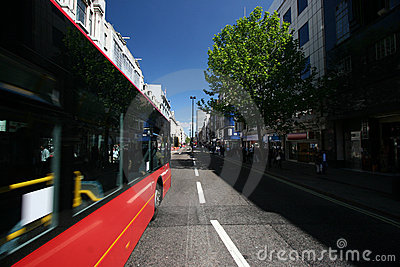 Bus passing by