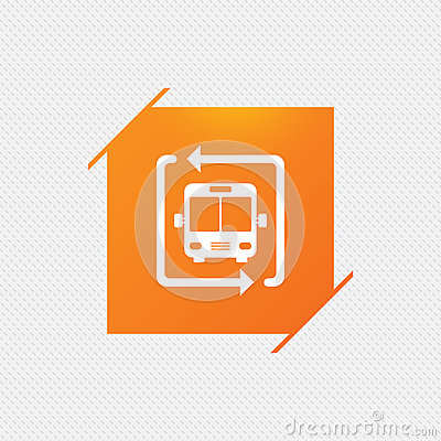 Free Bus Shuttle Icon. Public Transport Stop Symbol. Royalty Free Stock Image - 83648196