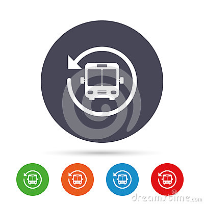 Free Bus Shuttle Icon. Public Transport Stop Symbol. Royalty Free Stock Images - 94144479