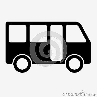 Free Bus Sign Icon. Public Transport Symbol. Stock Images - 77138174