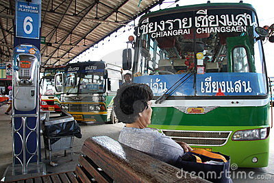 Bus station Editorial Stock Image