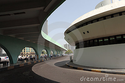 Bus station in Abu Dhabi Editorial Stock Photo