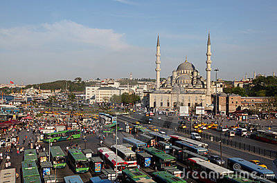 Bus station in Istanbul Editorial Image