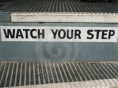 Bus Steps- Watch Your Step!