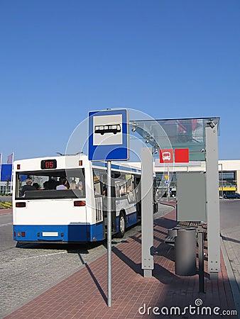 Free Bus Stop Royalty Free Stock Image - 1287856