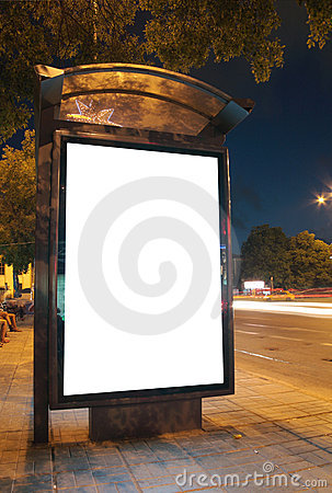 Free Bus Stop At Night Royalty Free Stock Photos - 16270428