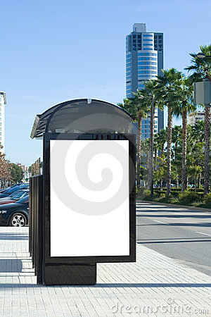 Free Bus Stop Billboard Royalty Free Stock Photography - 7433047